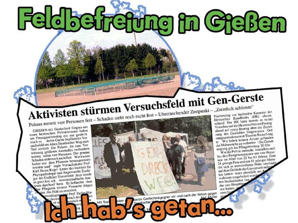 BVL und ZKBS 29.4.2006: Die Aussaat... Konzernnahe Beamte Dr. Buhk und Bartsch