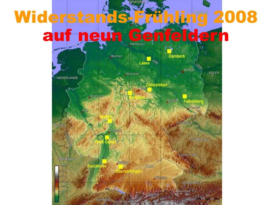 Widerstands-Frühling 2008 auf neun Genfeldern