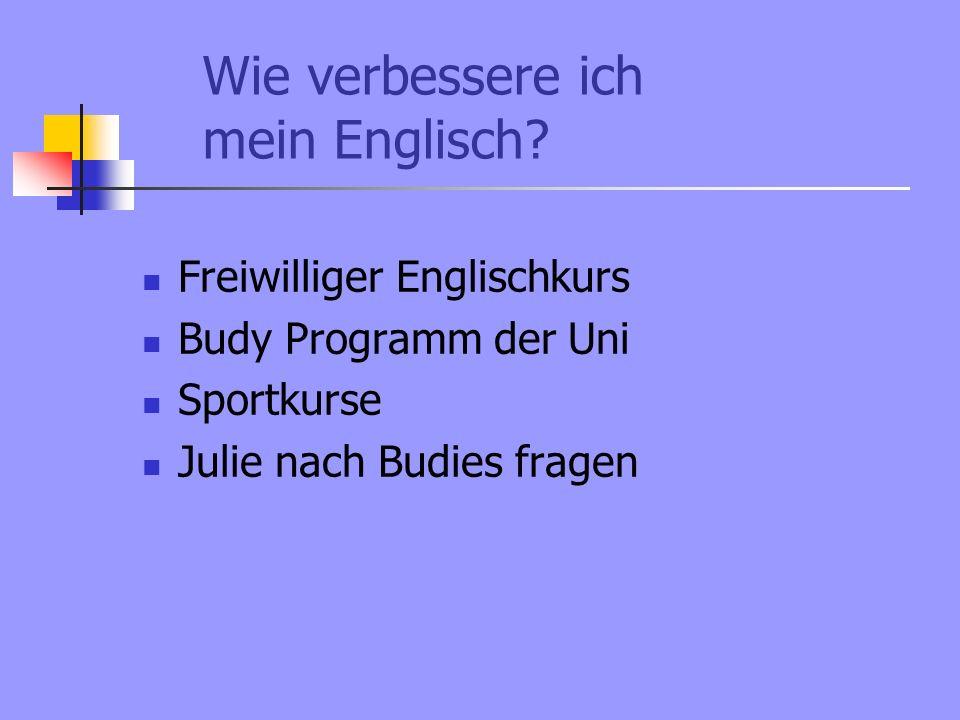 Wie verbessere ich mein Englisch.