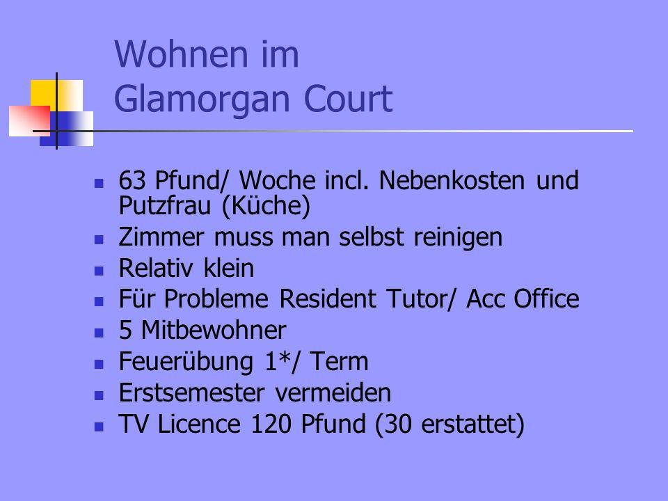 Wohnen im Glamorgan Court 63 Pfund/ Woche incl.