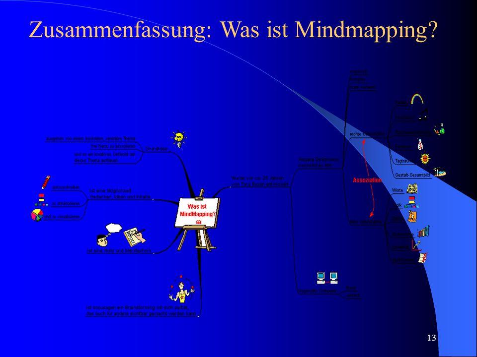 13 Zusammenfassung: Was ist Mindmapping?