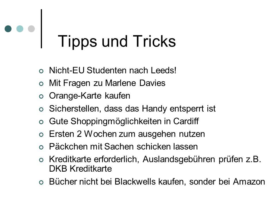 Tipps und Tricks Nicht-EU Studenten nach Leeds.