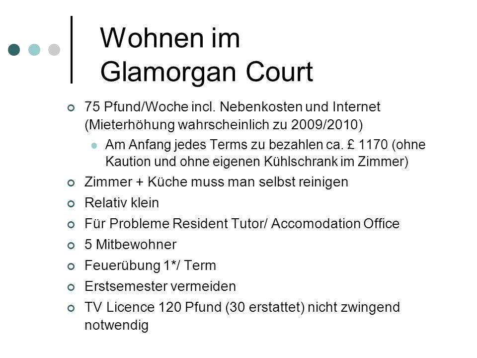 Wohnen im Glamorgan Court 75 Pfund/Woche incl.