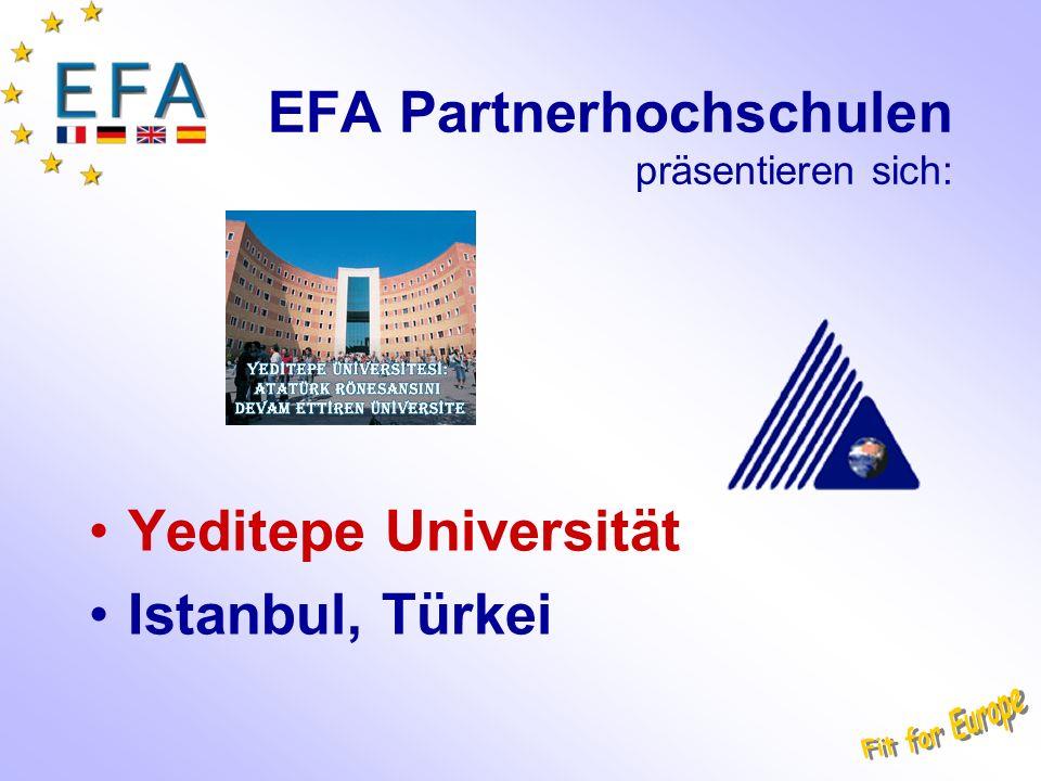 EFA Partnerhochschulen präsentieren sich: Yeditepe Universität Istanbul, Türkei