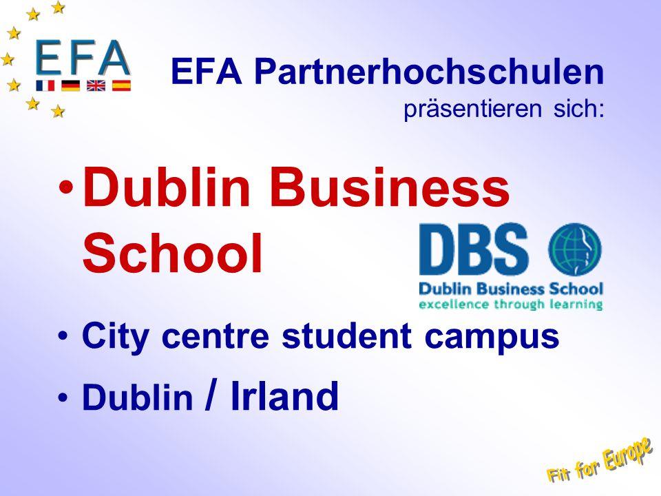 EFA Partnerhochschulen präsentieren sich: Dublin Business School City centre student campus Dublin / Irland