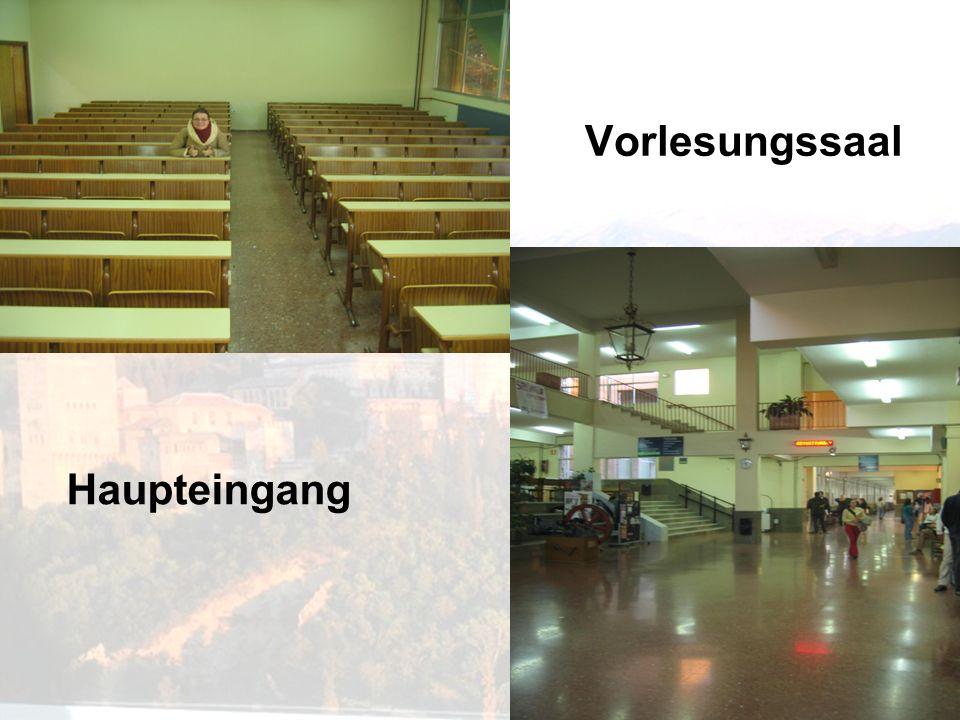 Vorlesungssaal Haupteingang