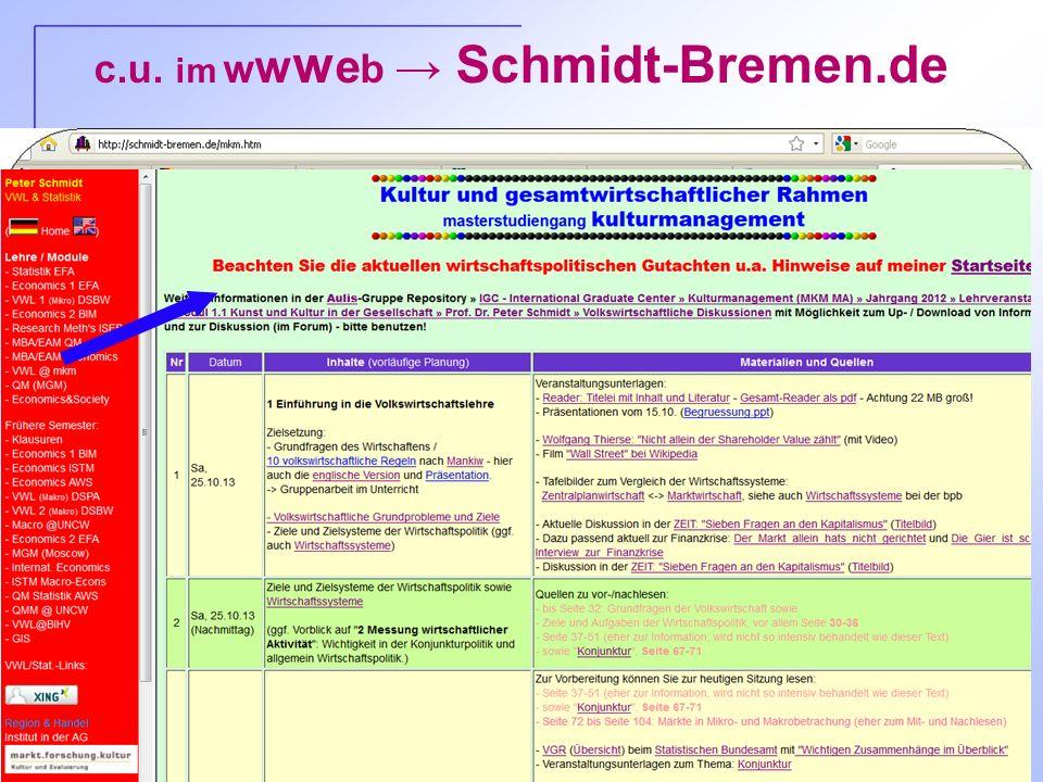 P. Schmidt, HS Bremen - Folie 6 c.u. im w w w e b Schmidt-Bremen.de