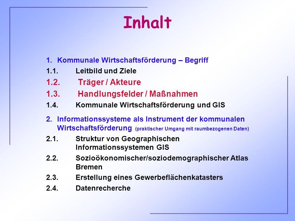 Fallbeispiel Akteure Kriterien/Ziele Handlungsfelder/Maßnahmen Stadtentwicklungspolitische Rahmenbedingungen