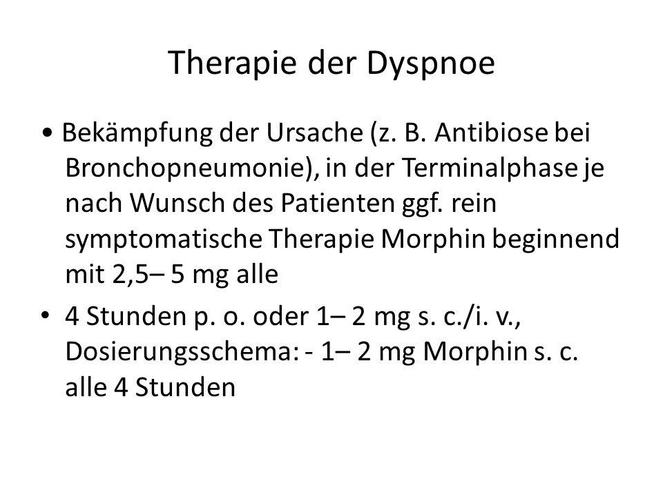 Therapie der Dyspnoe Bekämpfung der Ursache (z.B.