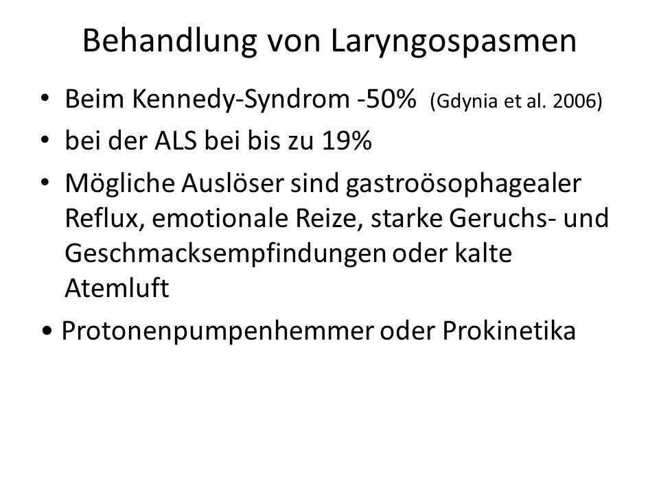 Behandlung von Laryngospasmen Beim Kennedy-Syndrom -50% (Gdynia et al.