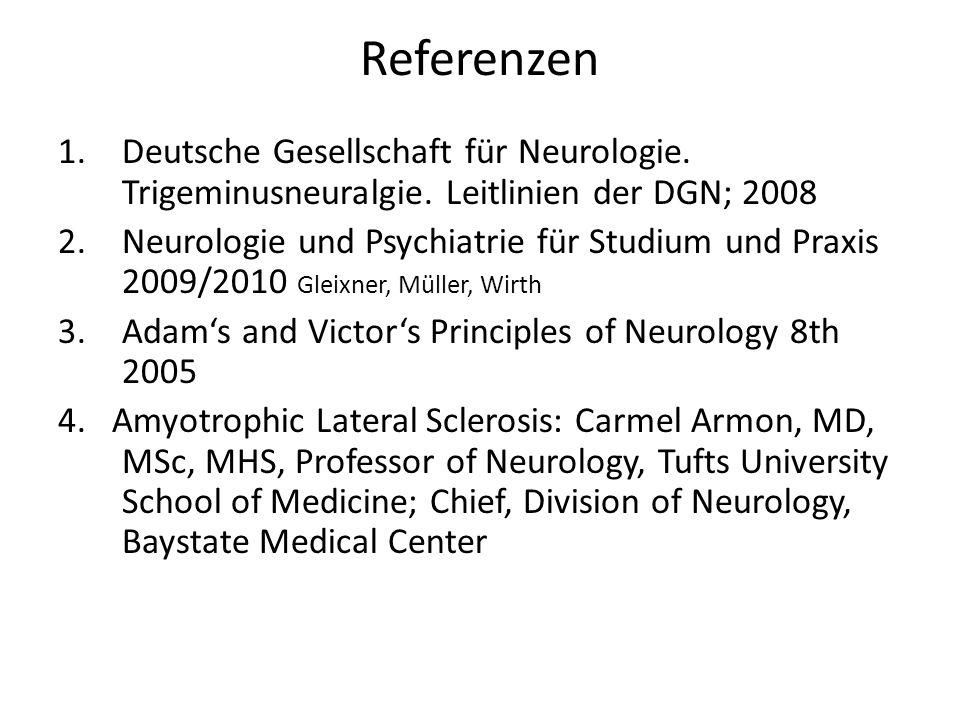 Referenzen 1.Deutsche Gesellschaft für Neurologie.