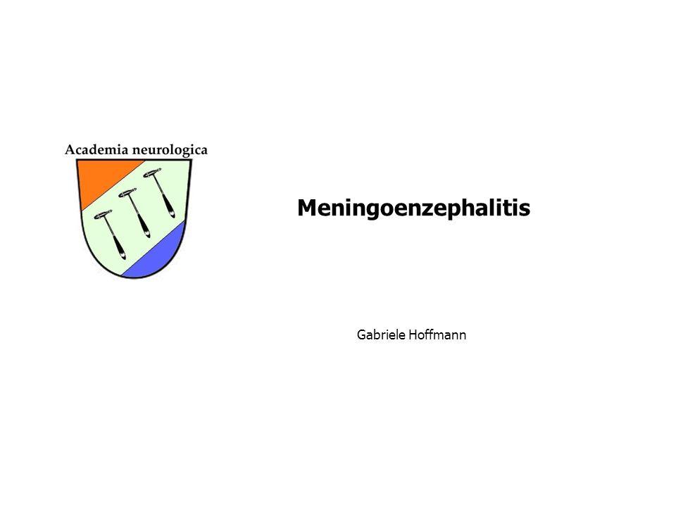 Gabriele Hoffmann Meningoenzephalitis