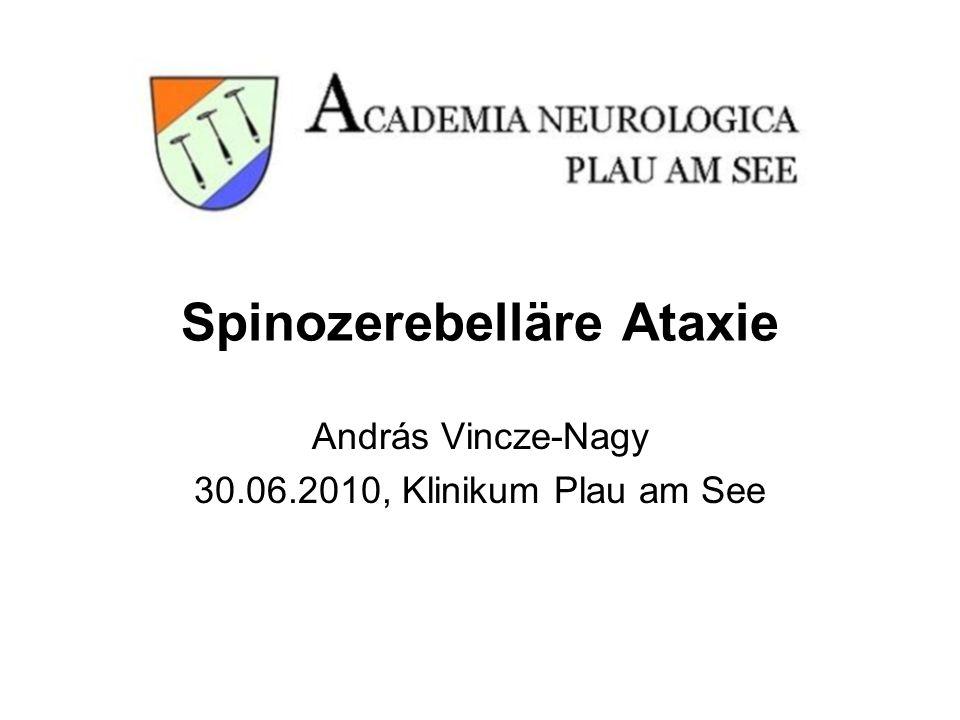 Spinozerebelläre Ataxie András Vincze-Nagy 30.06.2010, Klinikum Plau am See