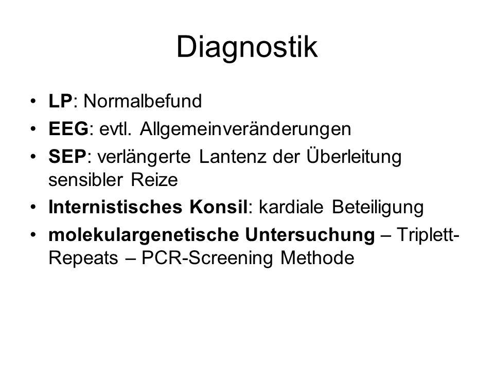 Diagnostik LP: Normalbefund EEG: evtl.