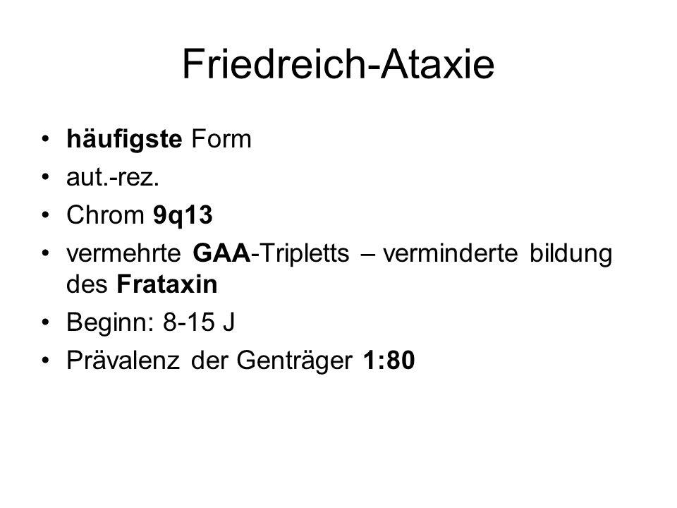 Friedreich-Ataxie häufigste Form aut.-rez.