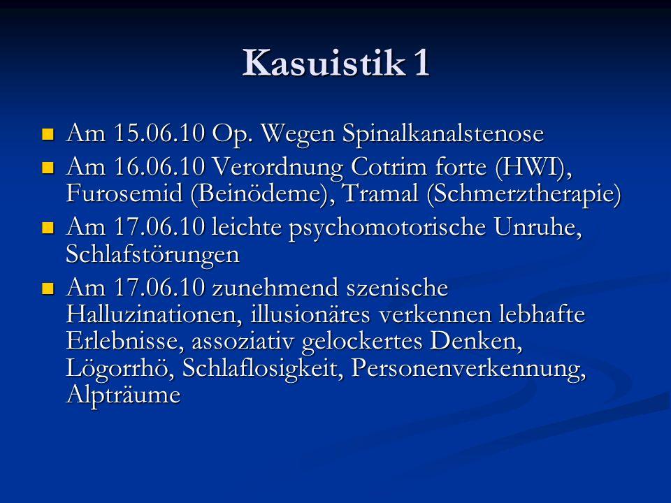 Kasuistik 1 Am 15.06.10 Op.Wegen Spinalkanalstenose Am 15.06.10 Op.