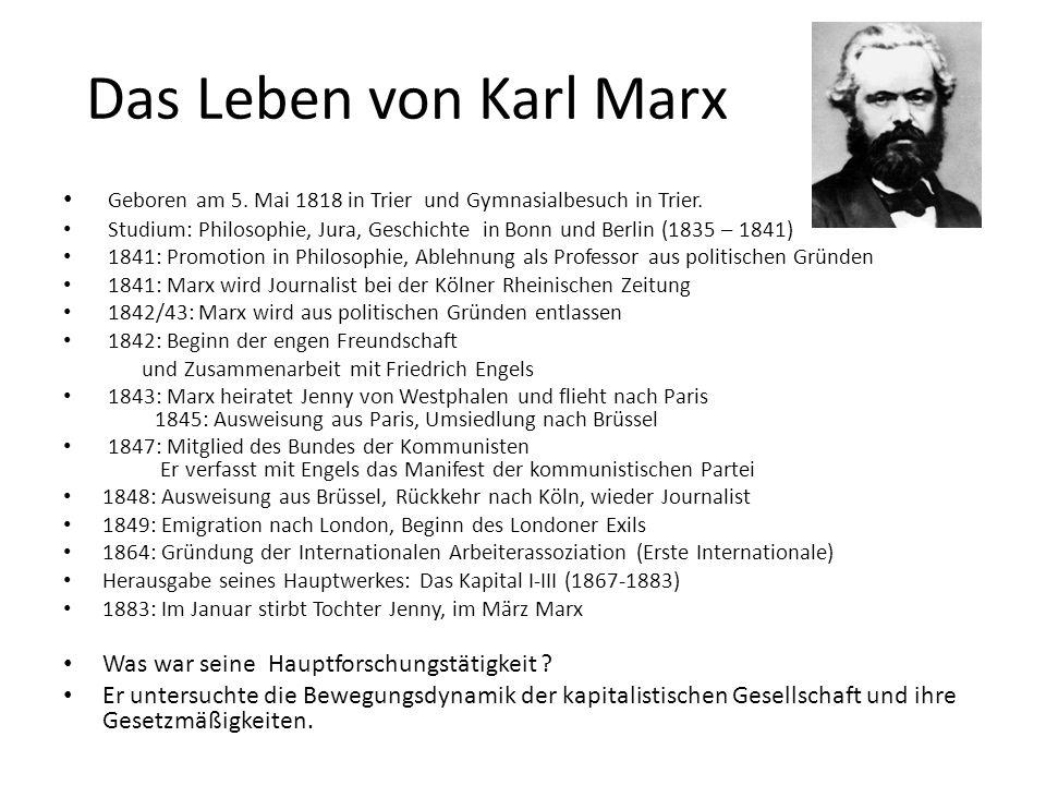 Welche Krisen untersuchte Marx .1. die zyklische Wirtschaftskrise 2.