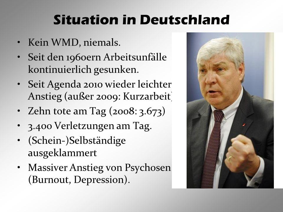 Situation in Deutschland Kein WMD, niemals.