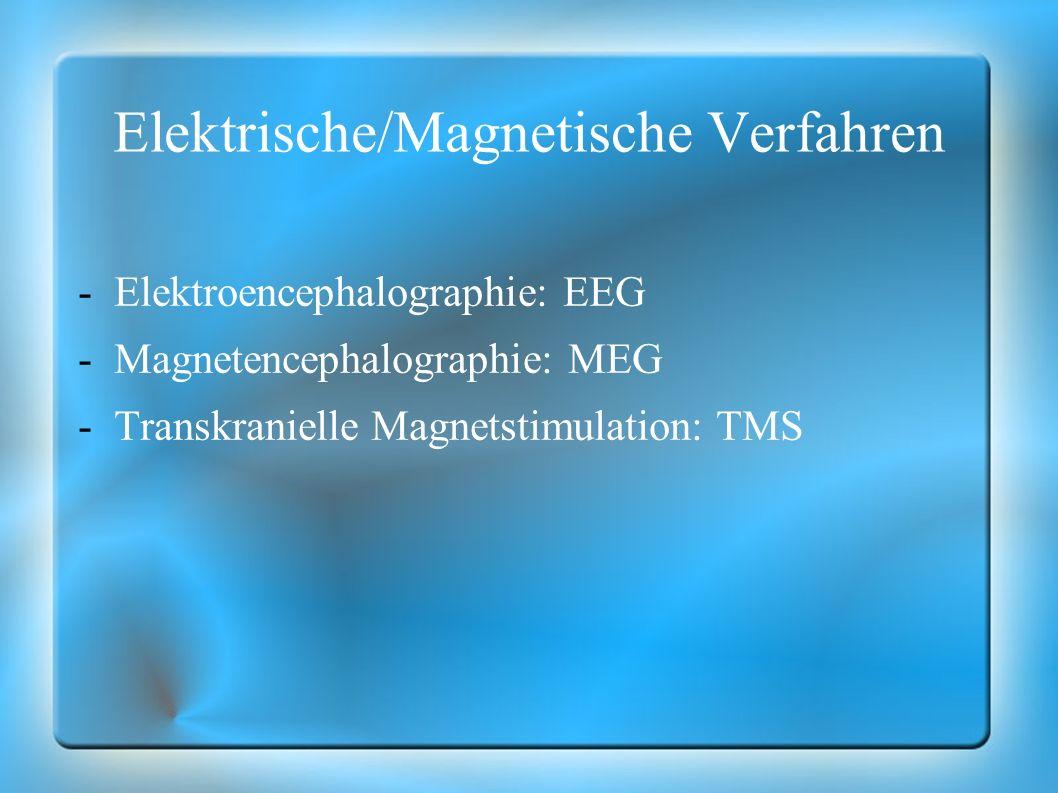 Metabolische Verfahren -Positronenemissionstomographie: PET -Single-Photon-Emissionscomputertomographie: SPECT -Funktionelle Magnetresonanztomographie: fMRT -Magnetic Particle Imaging: MPI