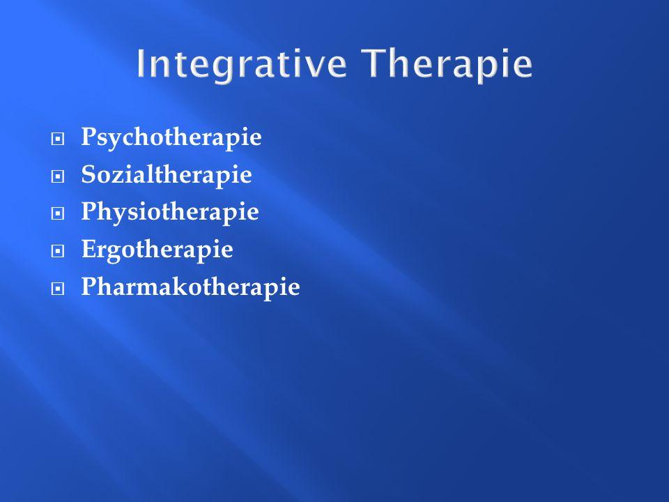 Integrative Therapie Psychotherapie Sozialtherapie Physiotherapie Ergotherapie Pharmakotherapie