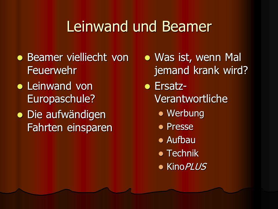 Leinwand und Beamer Beamer vielliecht von Feuerwehr Beamer vielliecht von Feuerwehr Leinwand von Europaschule.