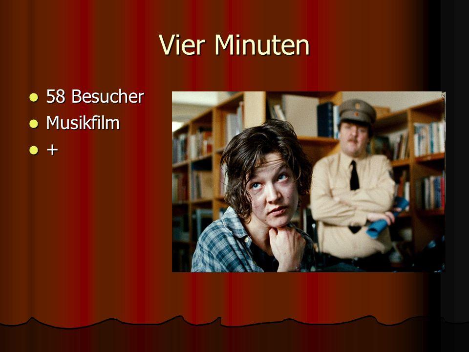 Vier Minuten 58 Besucher 58 Besucher Musikfilm Musikfilm +
