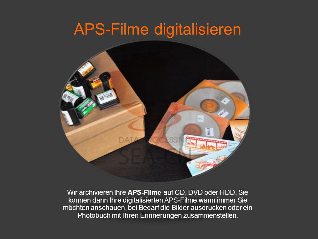 APS-Filme digitalisieren Wenn Sie zu unserem Scanservice Angebot Fragen haben, dann freuen wir uns auf Ihre Email unter talk2us@seacn.de.
