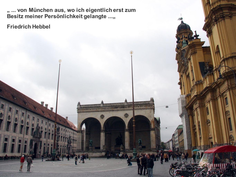 ... von München aus, wo ich eigentlich erst zum Besitz meiner Persönlichkeit gelangte...