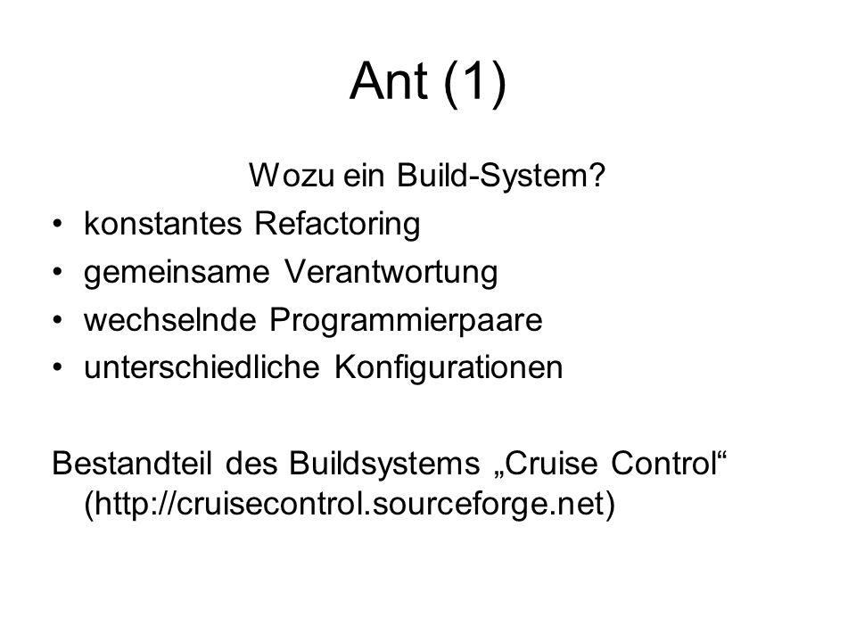 Ant (1) Wozu ein Build-System.