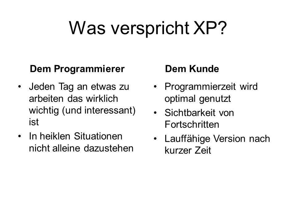 Was verspricht XP.