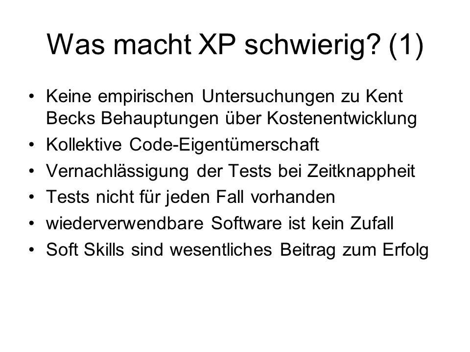 Was macht XP schwierig.