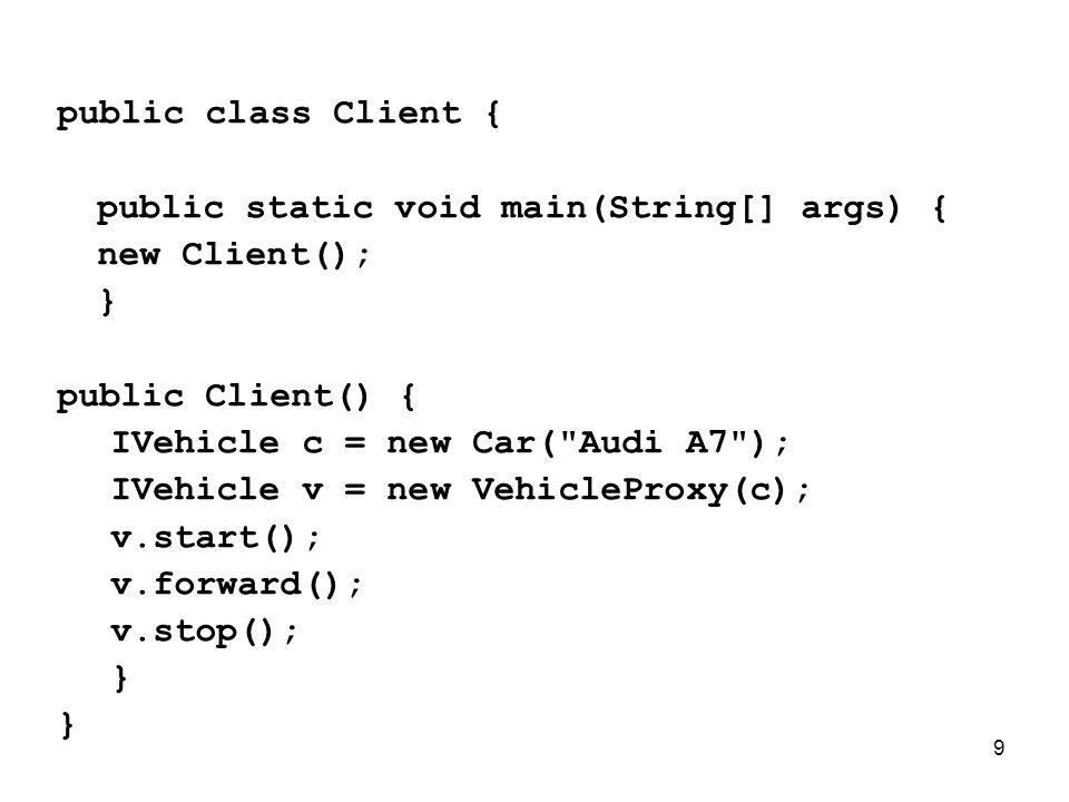 10 Fall- Beispiel Protection Proxy (Zugriffskontrolle) Remote Zugriff Ressourcen