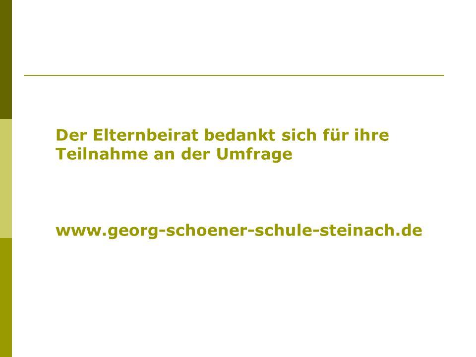 Der Elternbeirat bedankt sich für ihre Teilnahme an der Umfrage www.georg-schoener-schule-steinach.de