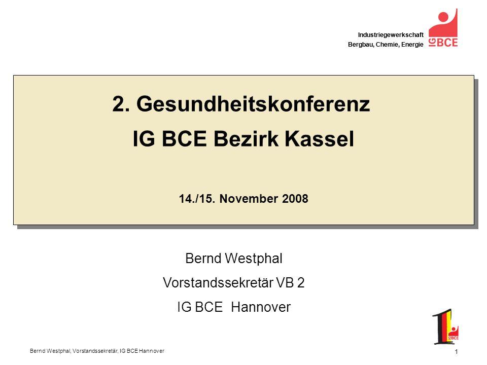 Bernd Westphal, Vorstandssekretär, IG BCE Hannover Industriegewerkschaft Bergbau, Chemie, Energie 12 Demografie 30% der Einwohner Deutschlands im erwerbstätigen Alter sind heute älter als 50 Jahre Schon 2020 werden es nach Berechnungen des IW 40 % sein Lediglich 18 % sind dann jünger als 30 Jahre Nur 50 % der 55- bis 64-Jährigen arbeitet in Deutschland In Schweden 70 %.