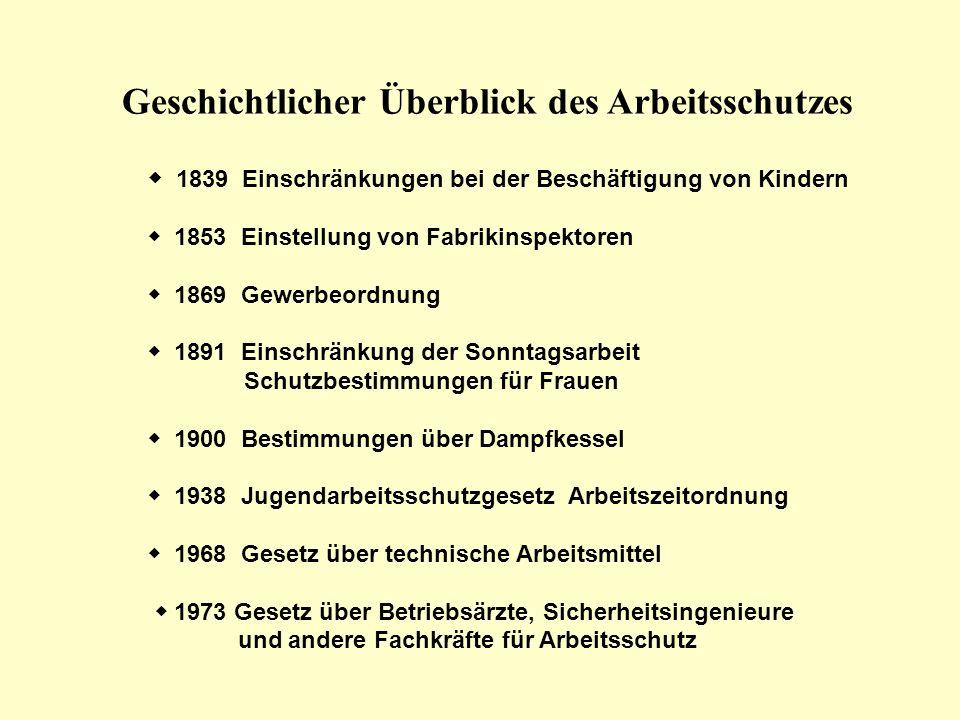 Das Duale System Staatlicher Arbeitsschutz staatliches Recht –G–Gesetze –V–Verordnungen –T–Techn.