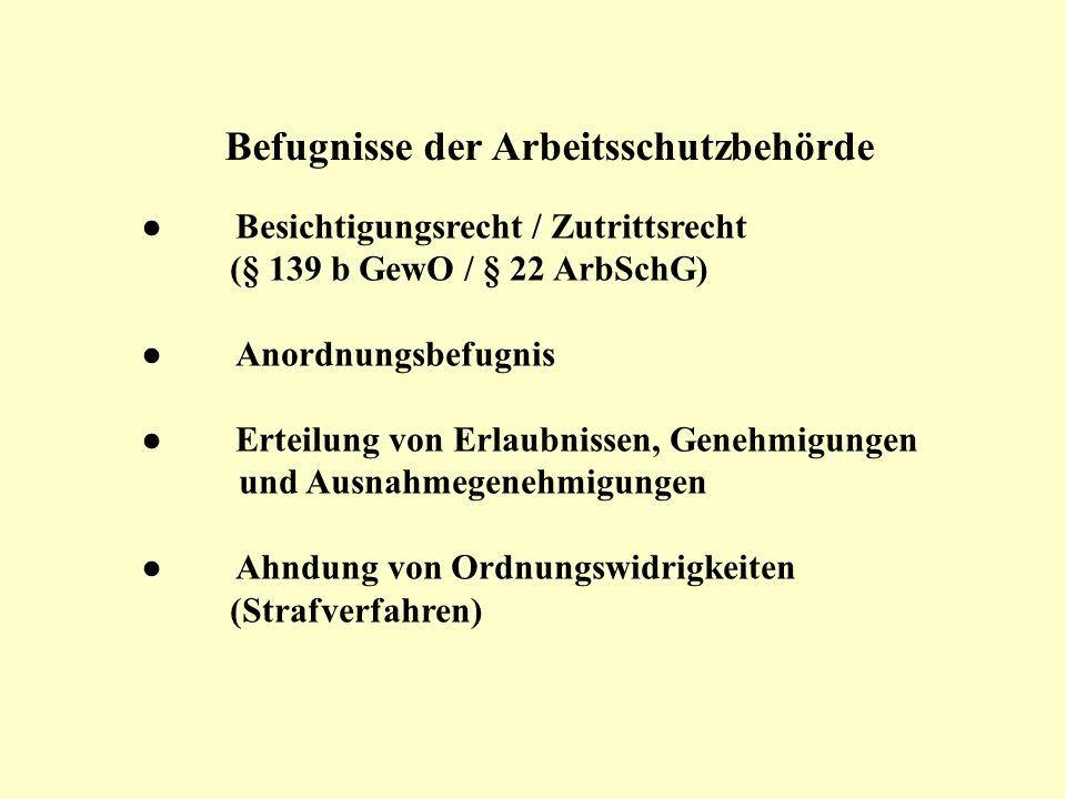 Arbeitsschutz behörden Arbeitnehmer- vertretungen Betriebs- und Personalräte § 89 Abs.
