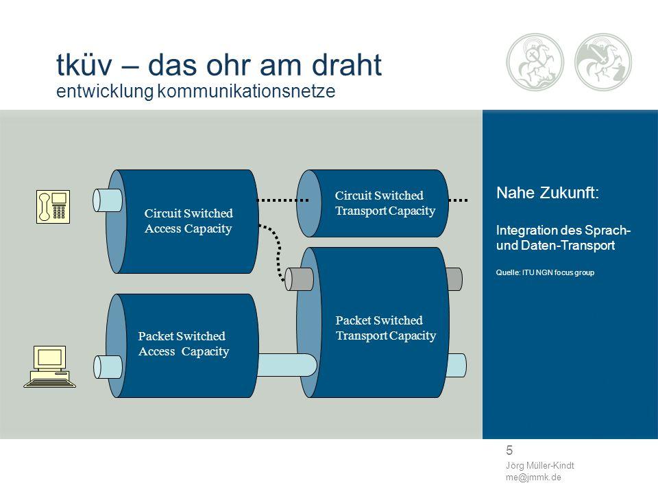 5 Jörg Müller-Kindt me@jmmk.de tküv – das ohr am draht entwicklung kommunikationsnetze Nahe Zukunft: Integration des Sprach- und Daten-Transport Quell