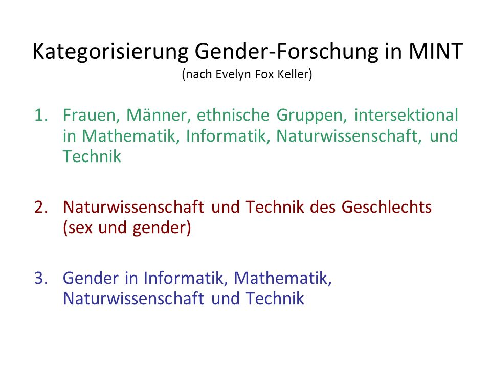Forderungen der Genderforschung Informatik an Informatik und SE, treffen sich z.