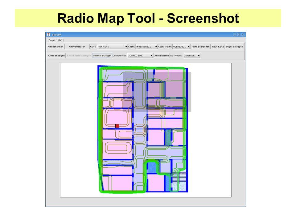 Radio Map Tool - Screenshot
