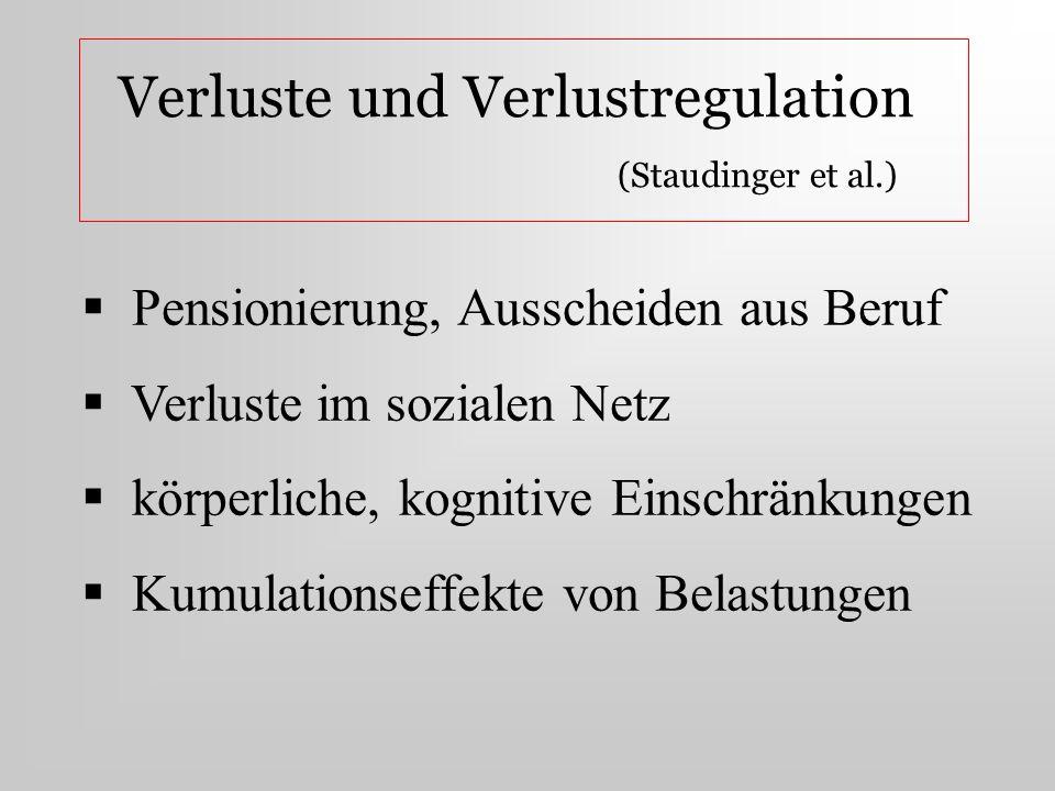 Verlustregulation (Niederfranke et al.) Pensionierung (6 bzw.