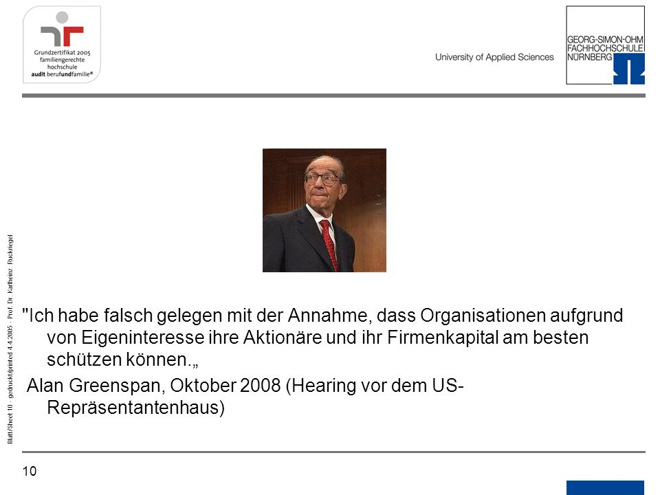 10 Blatt/Sheet 10 - gedruckt/printed 4.4.2005 - Prof. Dr. Karlheinz Ruckriegel