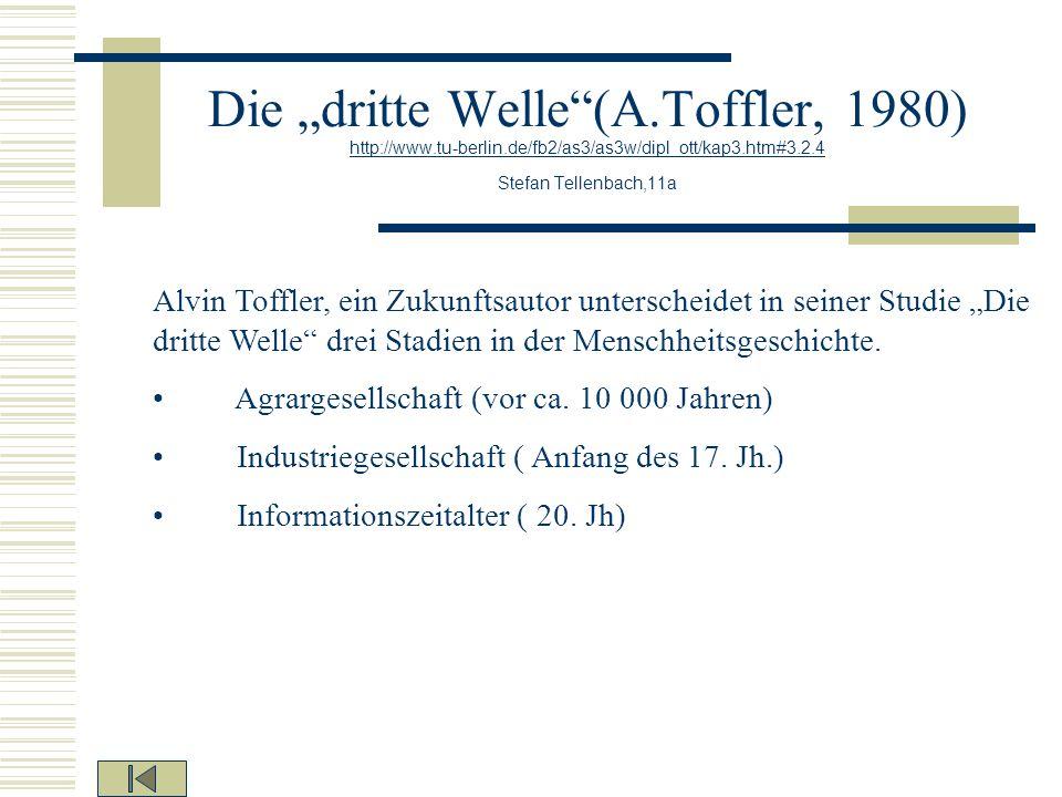 Die dritte Welle(A.Toffler, 1980) http://www.tu-berlin.de/fb2/as3/as3w/dipl_ott/kap3.htm#3.2.4 Stefan Tellenbach,11a http://www.tu-berlin.de/fb2/as3/a
