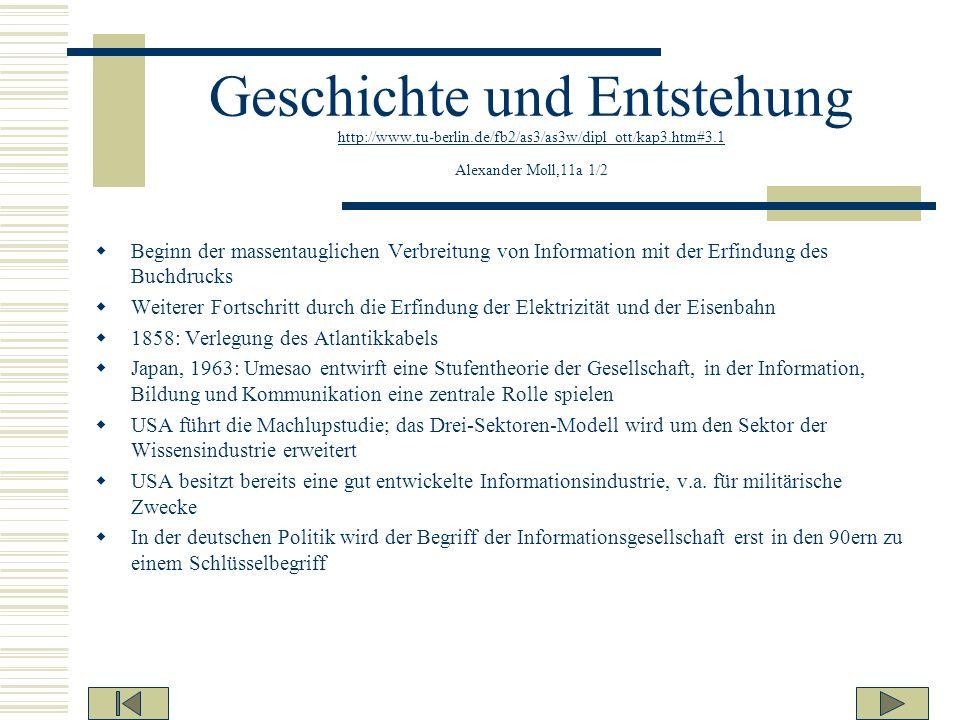 Geschichte und Entstehung http://www.tu-berlin.de/fb2/as3/as3w/dipl_ott/kap3.htm#3.1 Alexander Moll,11a 1/2 http://www.tu-berlin.de/fb2/as3/as3w/dipl_