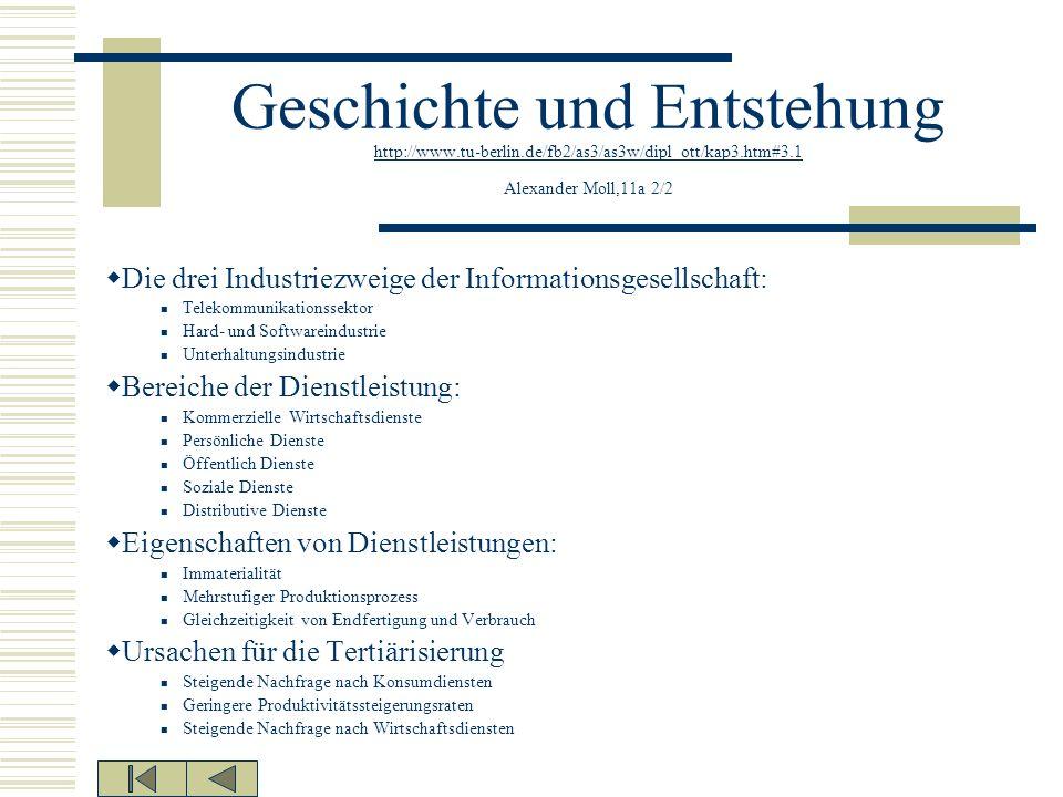 Geschichte und Entstehung http://www.tu-berlin.de/fb2/as3/as3w/dipl_ott/kap3.htm#3.1 Alexander Moll,11a 2/2 http://www.tu-berlin.de/fb2/as3/as3w/dipl_
