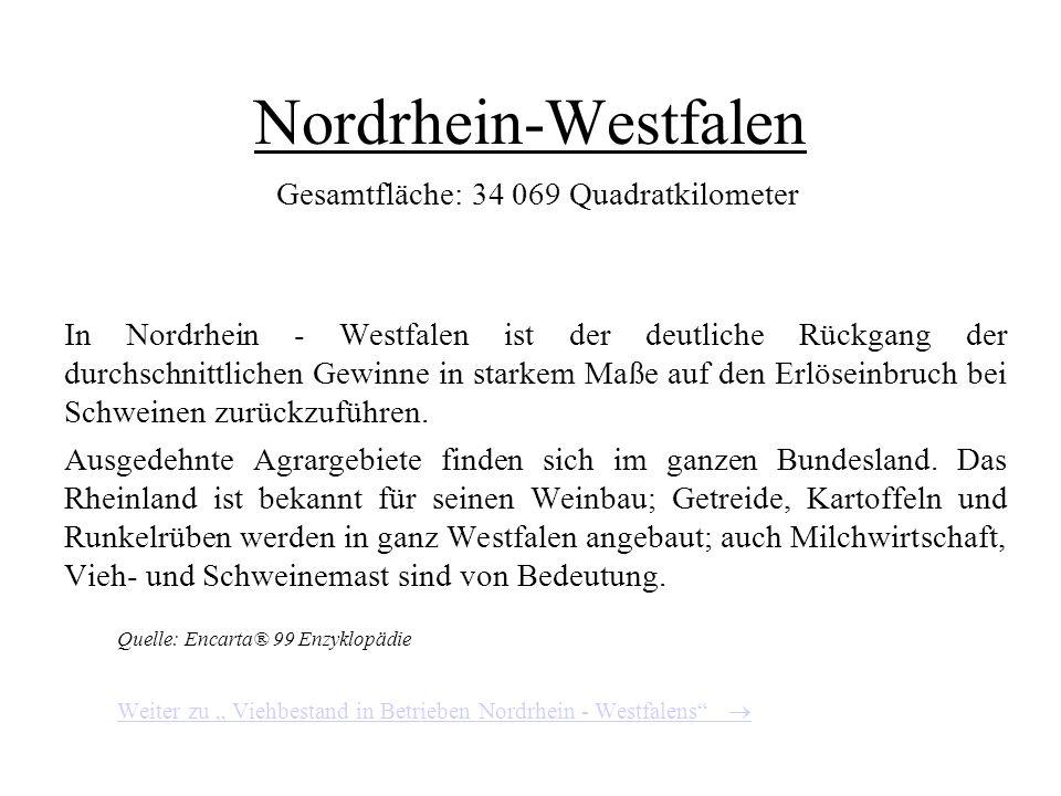 Viehbestand in Betrieben Bayerns Quelle: Agrarbericht der Bundesregierung 2000