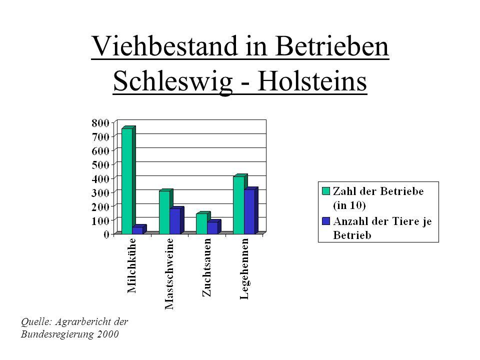 Schleswig-Holstein Der geringfügige Einkommensrückgang der landwirtschaftlichen Haupterwerbsbetriebe in Schleswig-Holstein ist durch den hohen Anteil