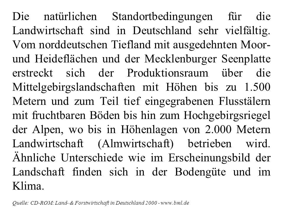 Bodennutzung Quelle: CD-ROM: Land- & Forstwirtschaft in Deutschland 2000 - www.bml.de