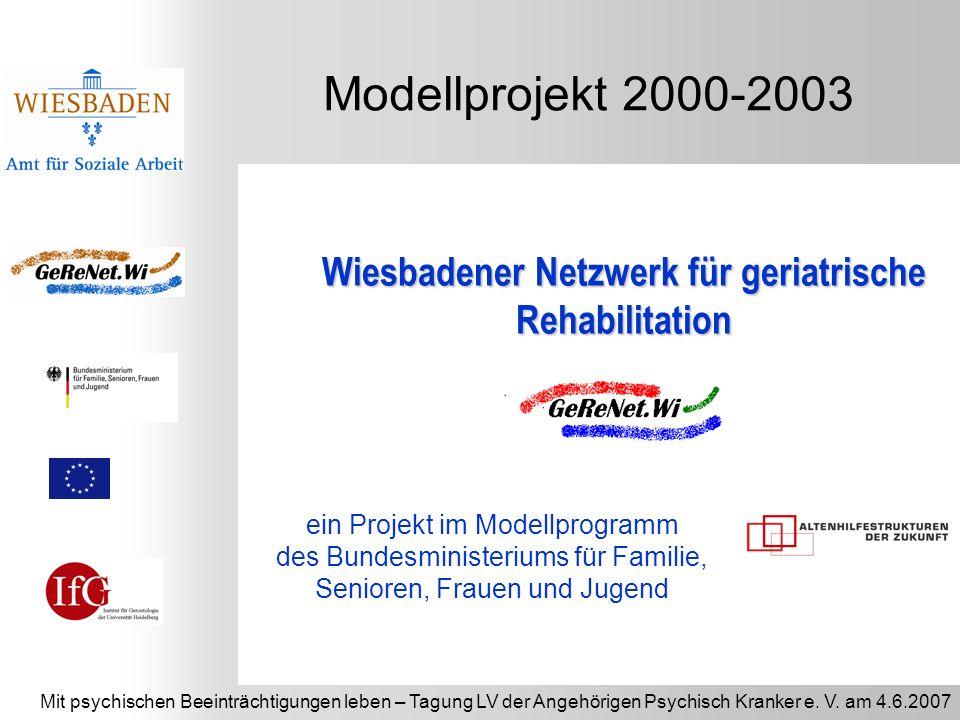 Mit psychischen Beeinträchtigungen leben – Tagung LV der Angehörigen Psychisch Kranker e. V. am 4.6.2007 Modellprojekt 2000-2003 ein Projekt im Modell