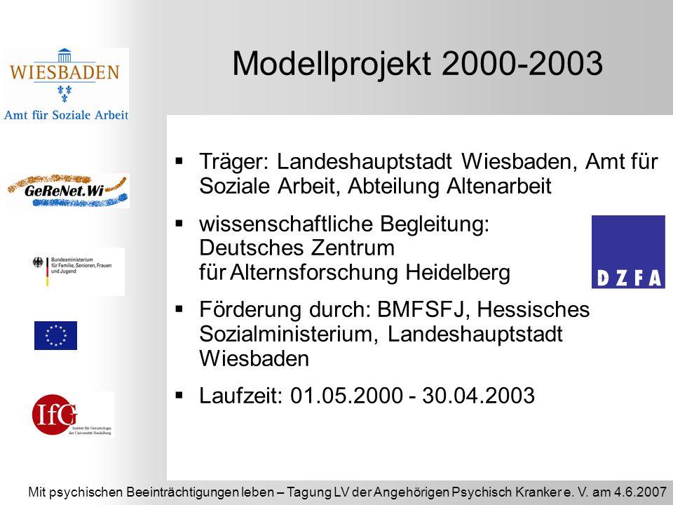 Mit psychischen Beeinträchtigungen leben – Tagung LV der Angehörigen Psychisch Kranker e. V. am 4.6.2007 Träger: Landeshauptstadt Wiesbaden, Amt für S