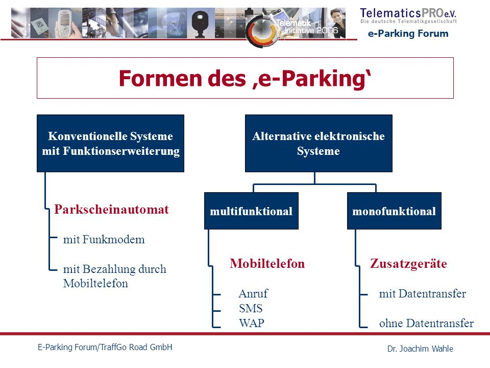 e-Parking Forum E-Parking Forum/TraffGo Road GmbH Dr.